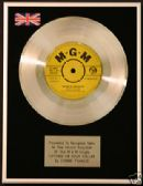 "CONNIE FRANCIS - 7""Platinum Disc LIPSTIC ON YOUR COLLAR"